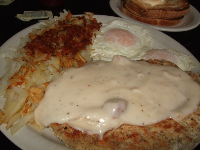Country Fried Steak, Two Eggs, and Hash Browns | Yelp