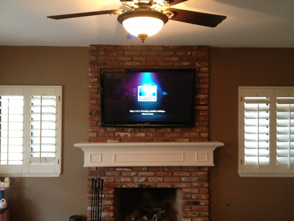 Mount Tv On Brick Fireplace