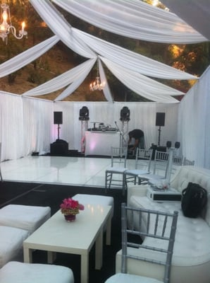 sweet sixteen rentals tent draping chiavari chairs lounge ...