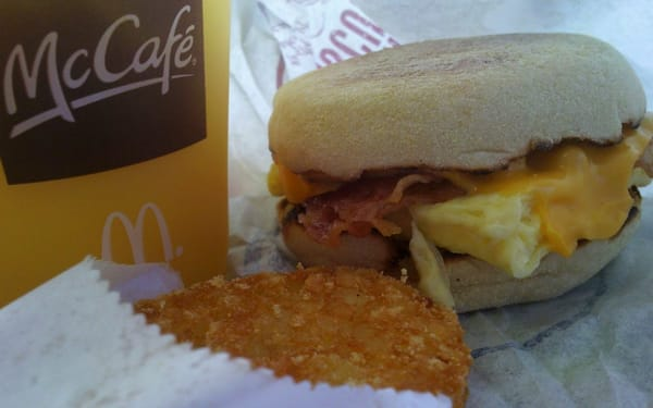 Bacon, egg and cheese McMuffin combo | Yelp