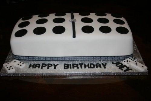 domino birthday cake