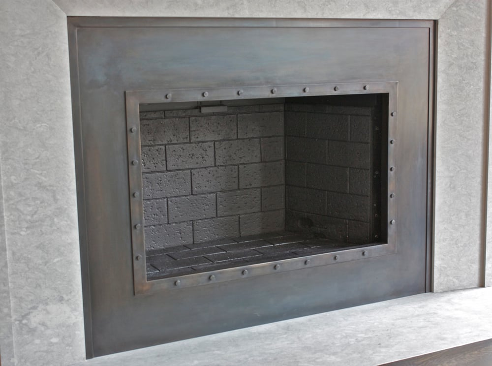 Hand Made Custom Fireplace Surround Blackened Steel