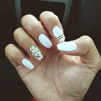 Ballerina shaped nails
