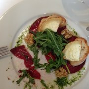 Warm goats cheese, beetroot and walnuts