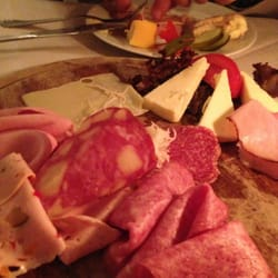 Meats and cheeses.