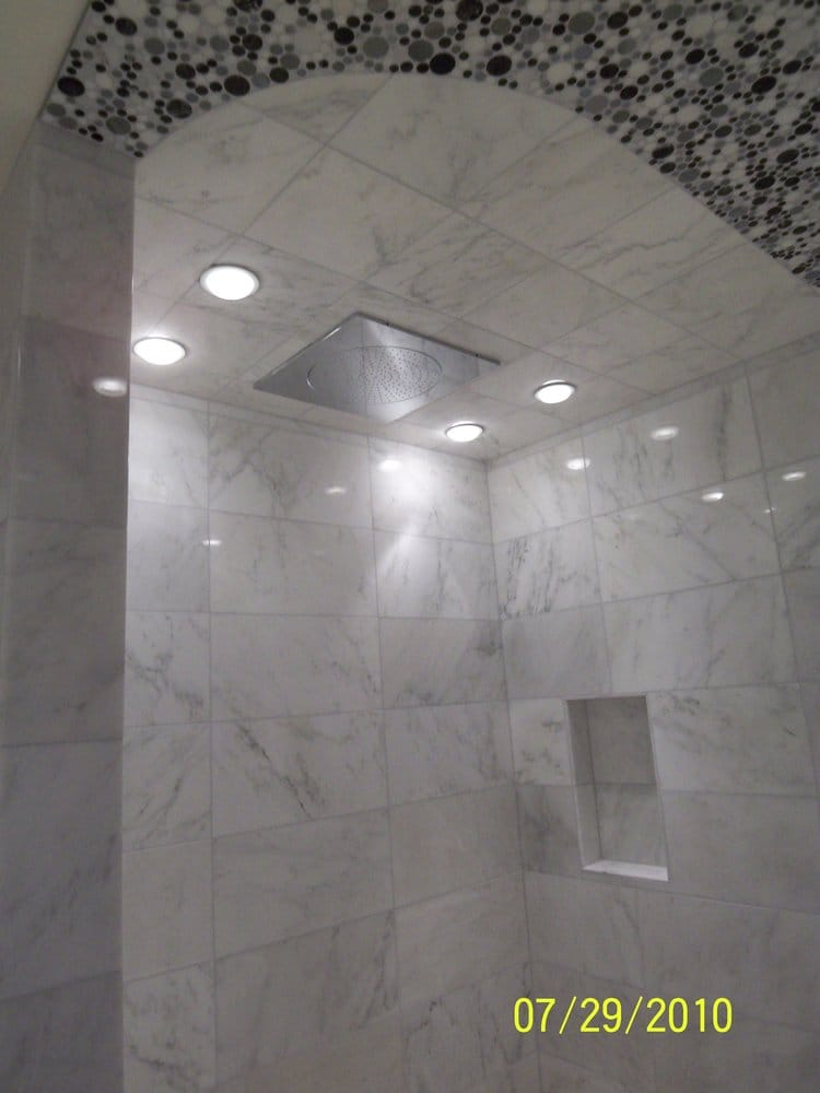 Recessed Lighting Over Shower : Recessed lights grohe flush mount shower fixture yelp