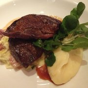 Roast wood pigeon, my husband's main course choice on price fix menu at Galvin bistro!