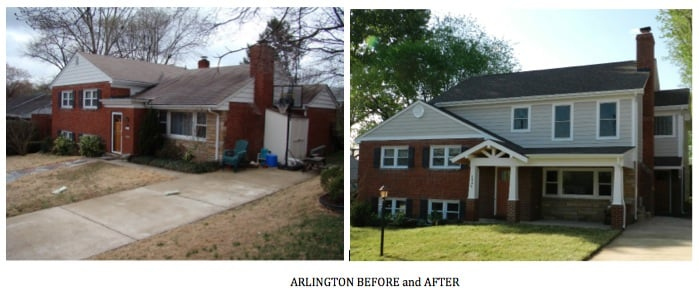 Arlington Second Story Addition Before and After