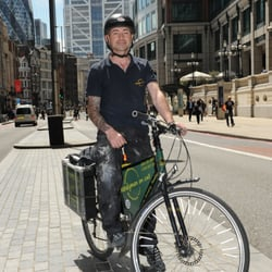 Cycling handyman in london