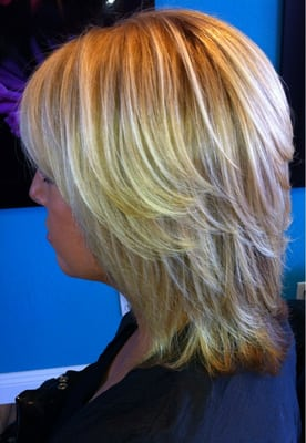 Partial highlights yelp long hairstyles for Acure eco salon west hartford
