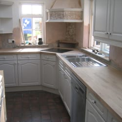 solid oak worktops, kitchen fitting