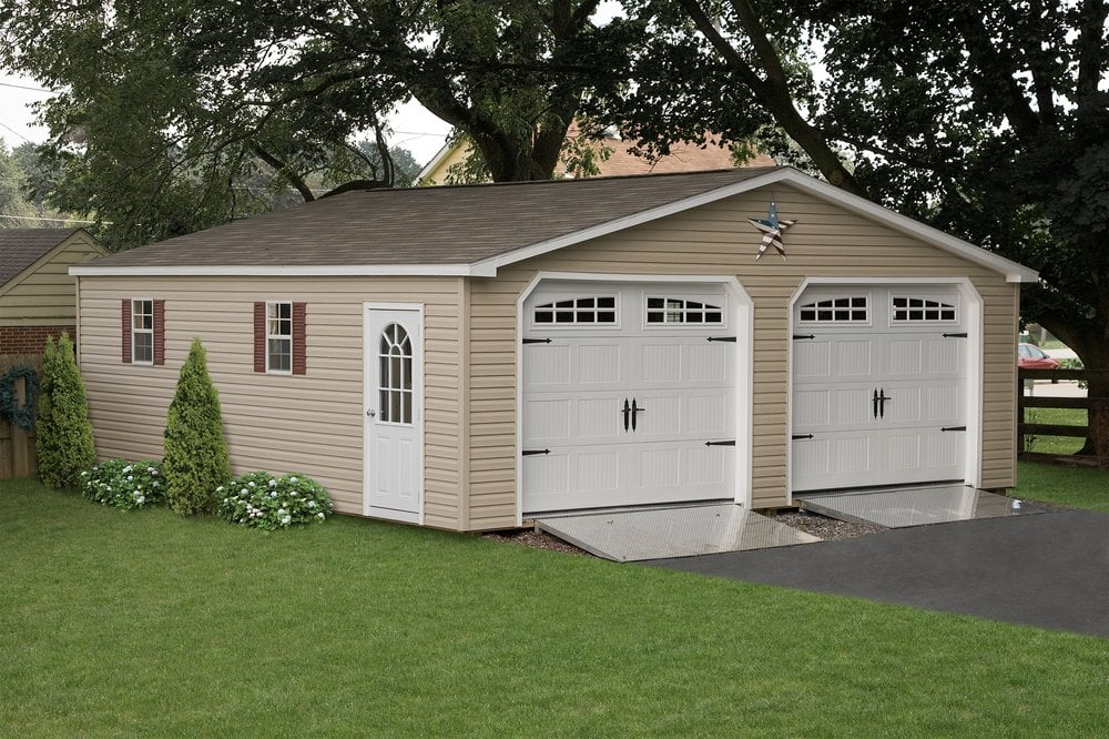 Amish 3 Car Garage With Loft : We build storage sheds and car garages up to size