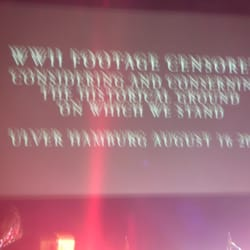 """WWII Footage Censored Considering And Conserning The Historical Ground on Which We Stand Ulver Hamburg August 16 2010""ULVER"
