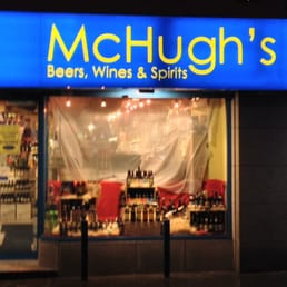 Shopfront at night.
