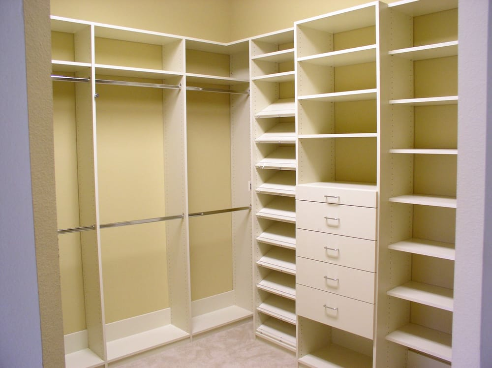 Closet organizer with adjustable shelving and rods Pictures of closet organizers