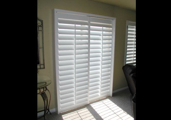 plantation shutter for sliding glass door 3 5 quot louvers yelp
