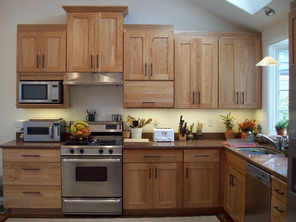 Dynasty red birch cabinetry albany yelp for Birch kitchen cabinets