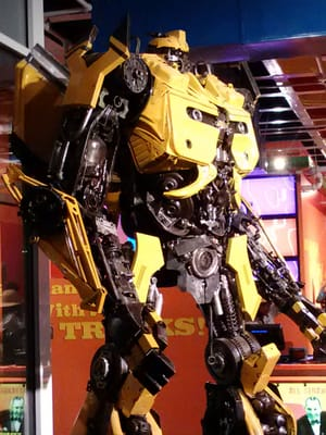 Transformer made from recycled car parts