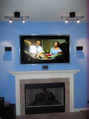 plasma tv over fireplace with home theater yelp