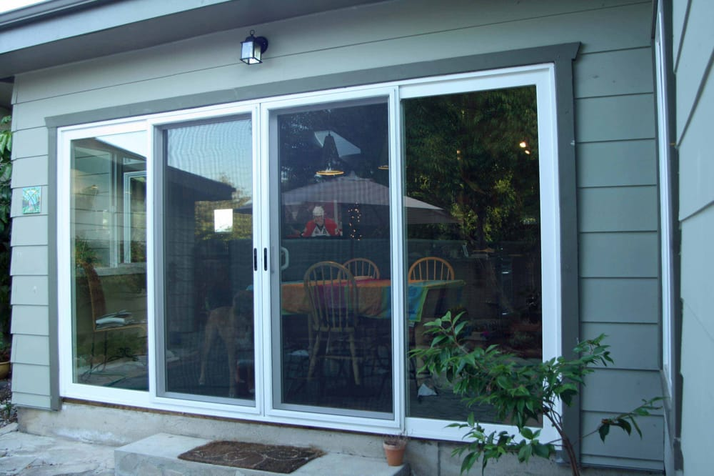 Patio door 4 panel sliding patio door for Outside sliding glass doors