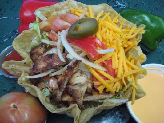 chicken tostada salad | Yelp
