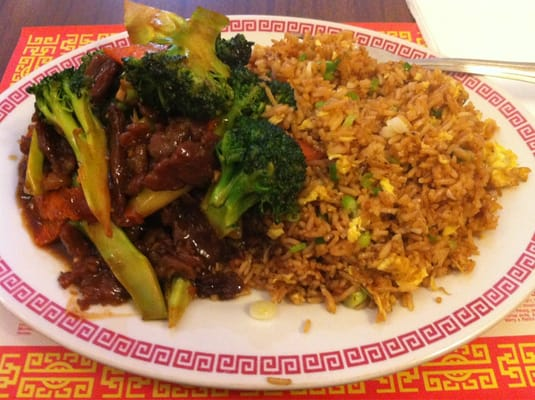 Beef and broccoli with egg fried rice | Yelp