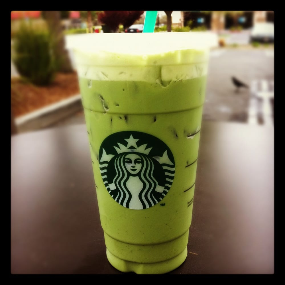 Venti iced green tea latte with vanilla bean. My weakness ...