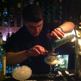 The bartender giving an experience beyond just the drink.