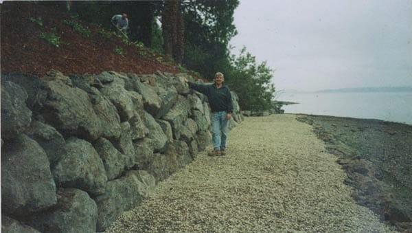 5 39 retaining bulkhead wall along waterfront on bainbridge for Landscaping rocks kitsap county