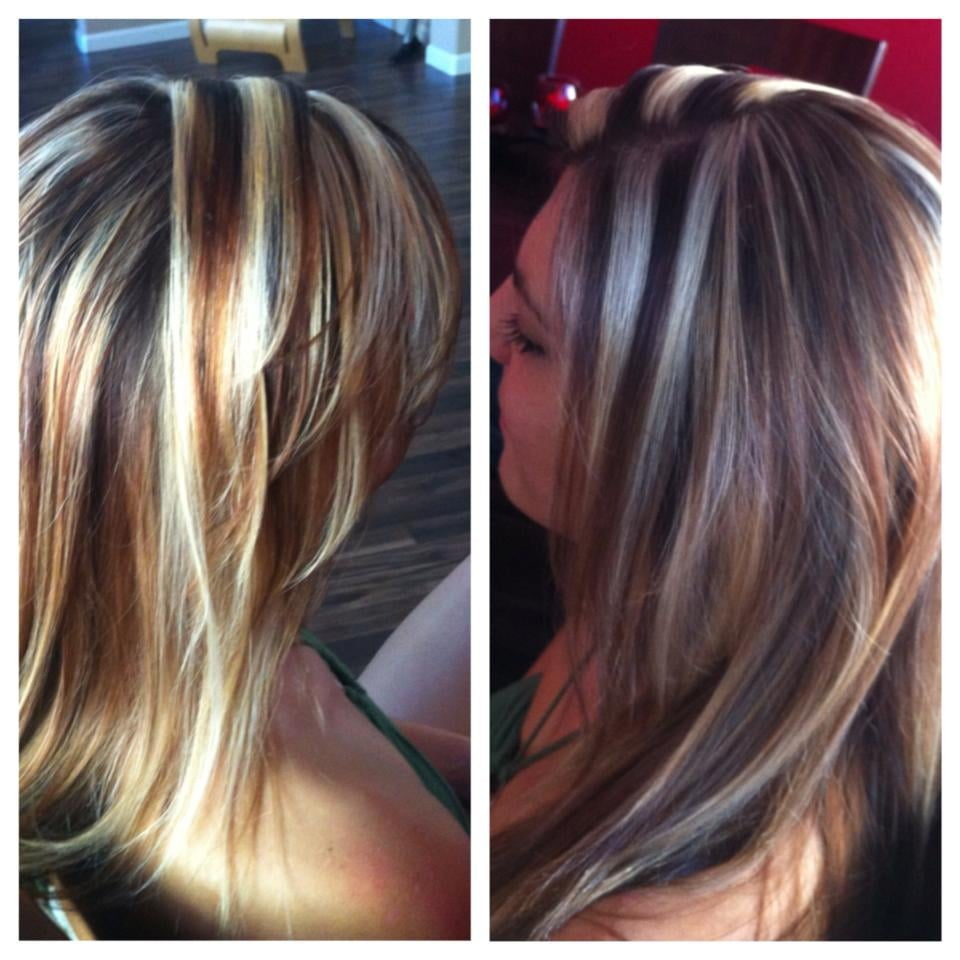 chunky blonde highlights by sarah | Yelp
