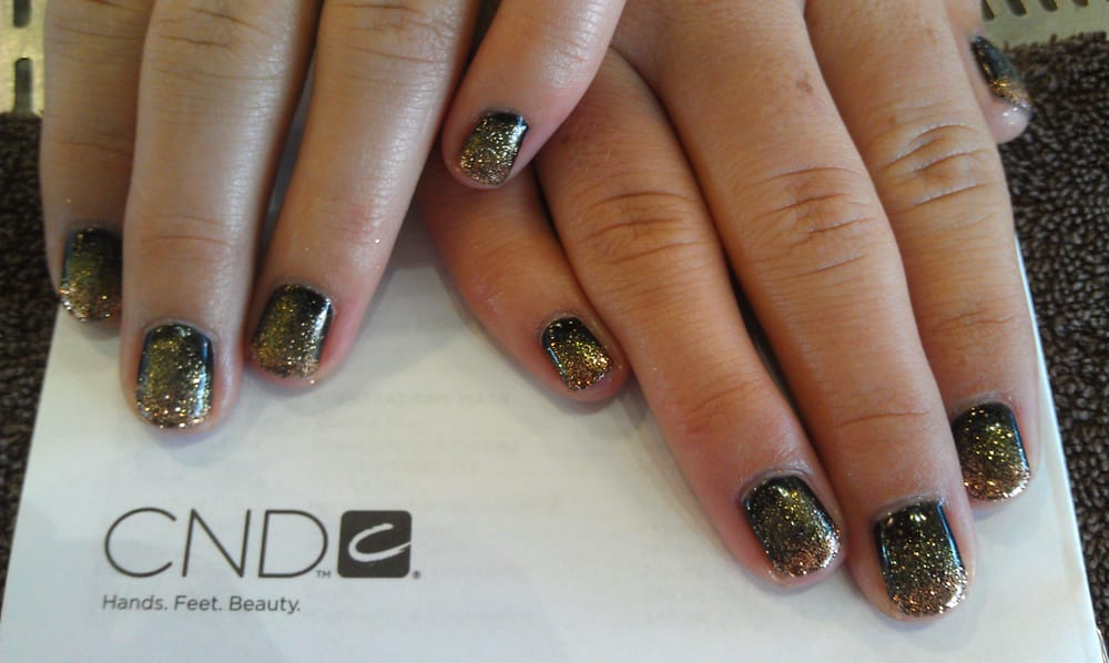 Ombre nails done with shellac | Yelp