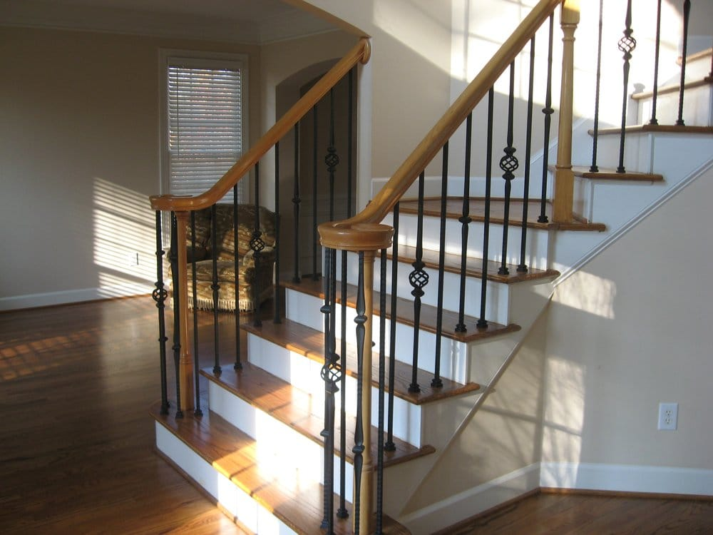 We Can Add New Iron Spindles As Well As Hardwood On Your