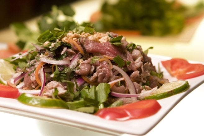 lemon cured beef salad  bo tai chanh  yelp