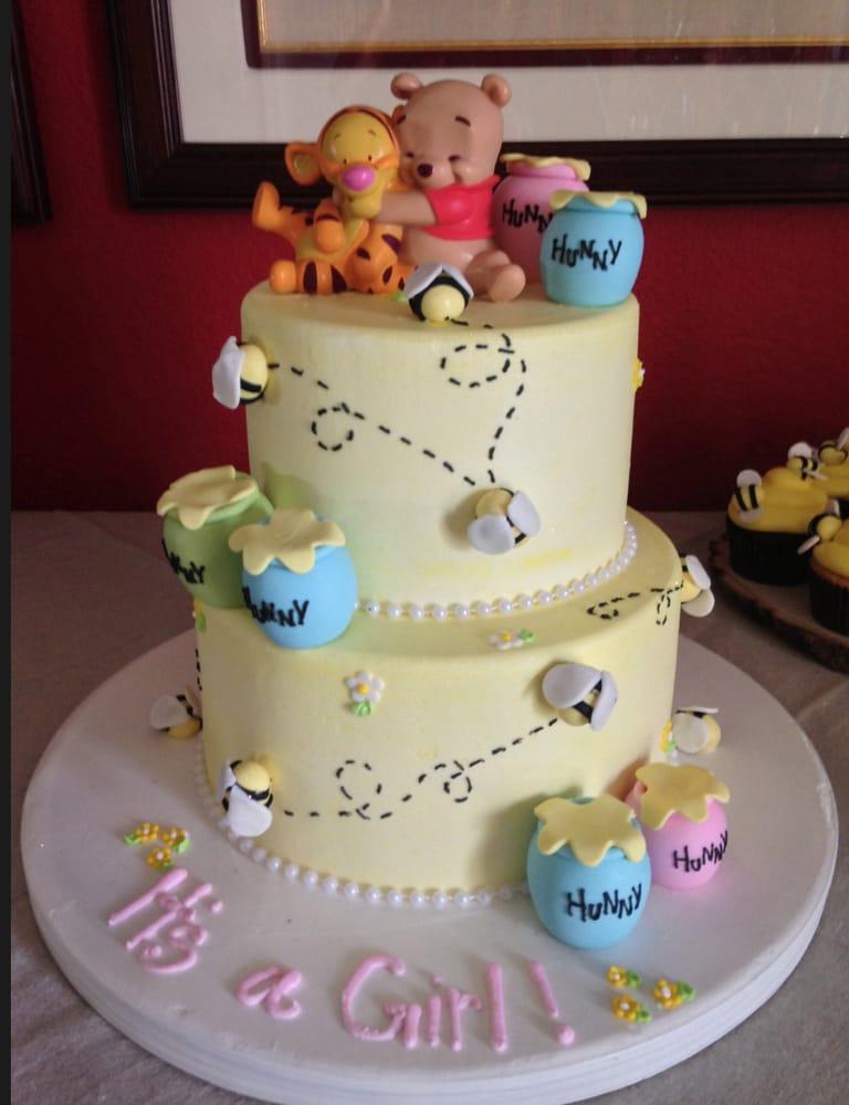 custom 2 tiered winnie the pooh cake for baby shower yelp