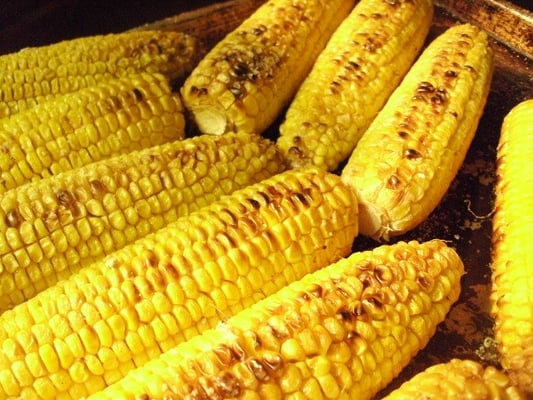 Oven roasted corn cooling and waiting to be hand cut yelp for Alcatraz fine mexican cuisine