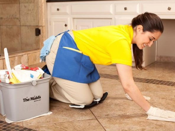 We clean floors on hands and knees the best way to get a for Floor someone