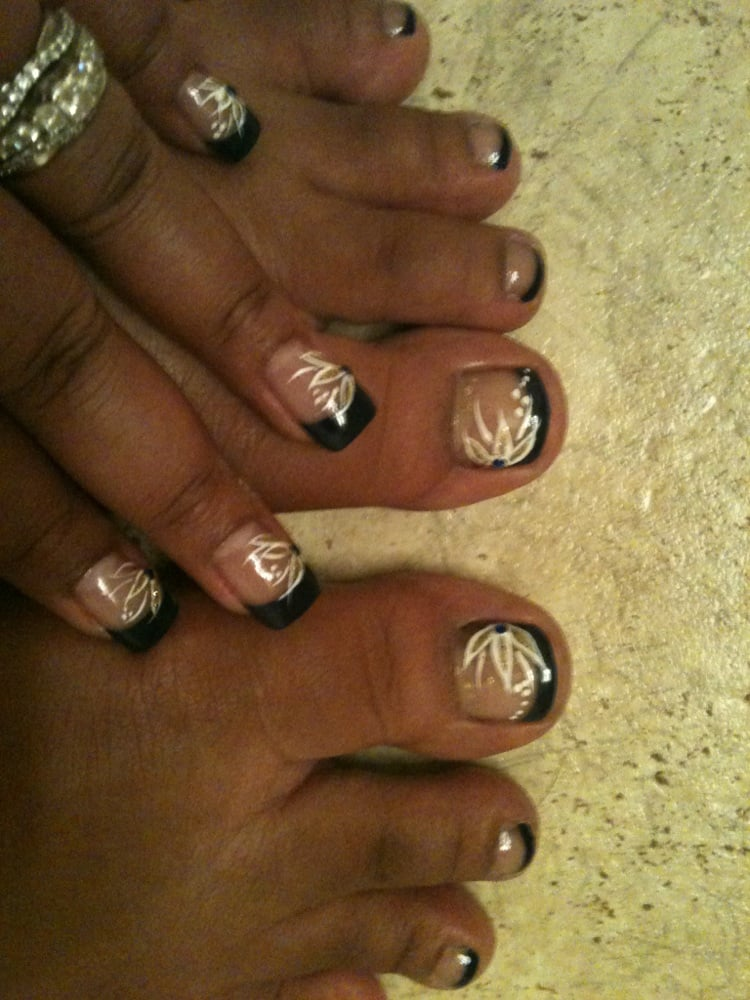 Matching acrylic nails toes yelp for Acrylic toe nails salon