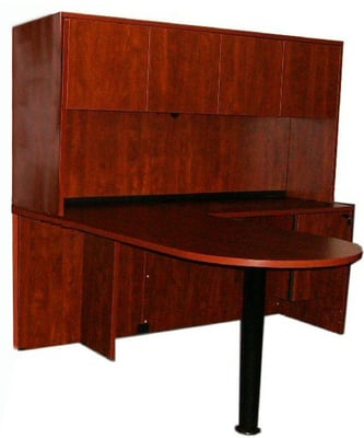 $799 Bullet L Shape Desk and Hutch only from Smart Buy