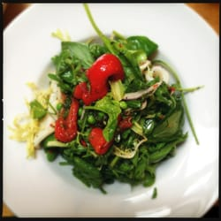 Warm grilled squid salad
