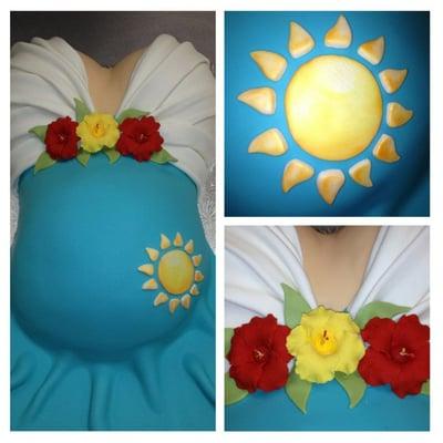 Unique personalized pregnant torso cake yelp