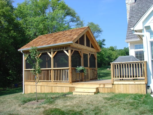 Deck and detached screened room gazebo yelp for Decks and gazebos