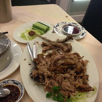 Delicious half crispy duck with fresh chili spice!