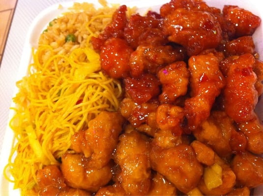 Bang bang chicken and mango chicken | Yelp