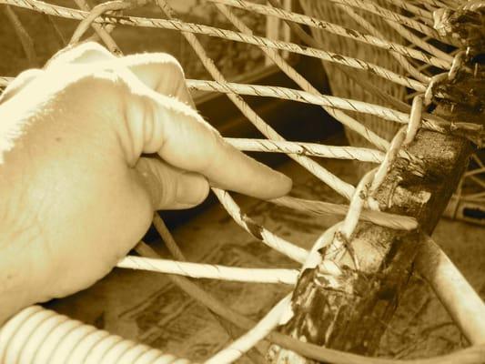 Restoring antique wicker yelp for Jardin wicker