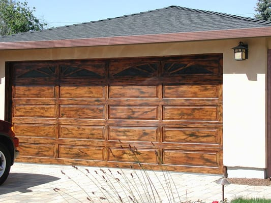 Garage Door After Faux Wood Graining Yelp