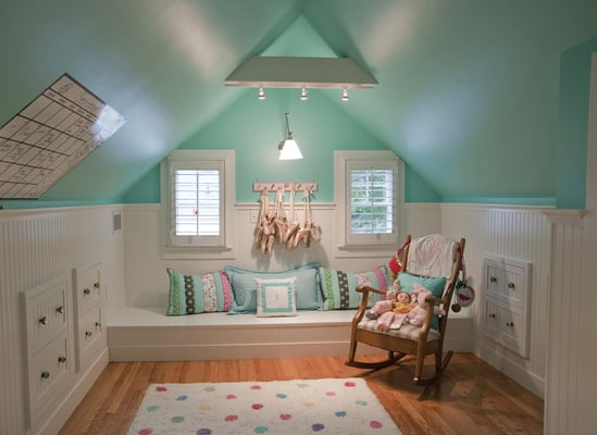 Built In Drawers Maximize Storage Space In This Attic Bedroom Yelp
