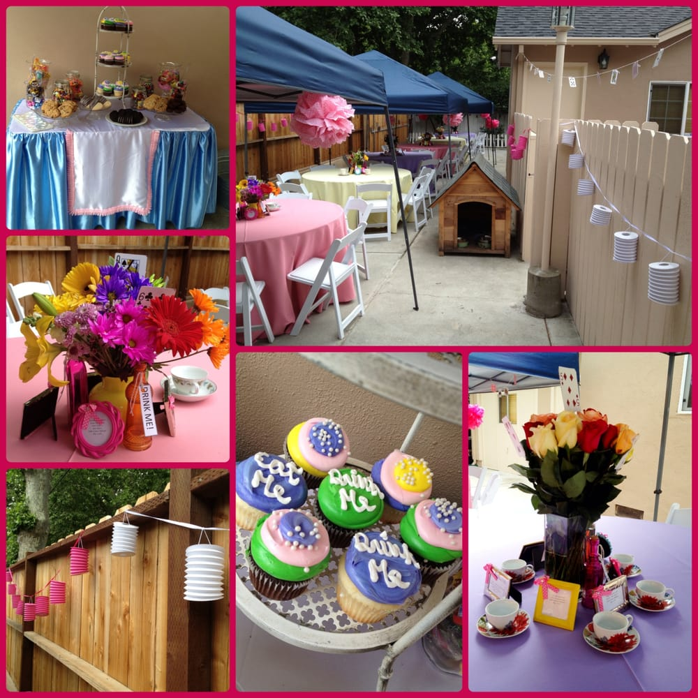this was a tea party theme baby shower using unica party rental i