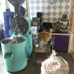 Coffee roaster upstairs