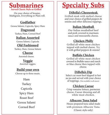 Dibella's old fashioned submarines coupons