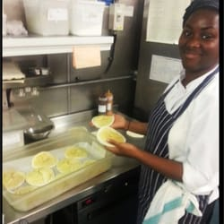 Our new recruit Maria making some fresh scrumptious apple flans